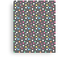 Disco Blocks Canvas Print