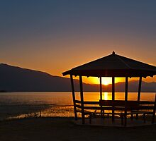 Sunrise in Lake Kerkini by Konstantinos Arvanitopoulos