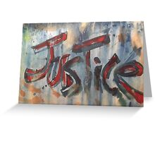 Justice Greeting Card