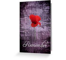 Remember Greeting Card