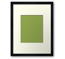 Green Yellow Fish Scales Framed Print