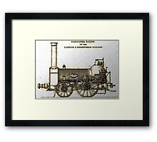Bury Type Passenger Locomotive circa 1840 Framed Print