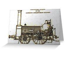 Bury Type Passenger Locomotive circa 1840 Greeting Card