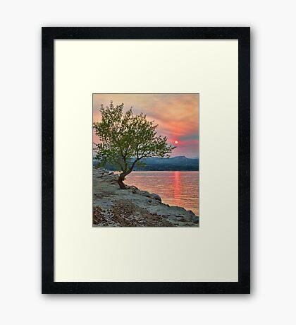 Sunset Thru Wildfire Smoke Framed Print