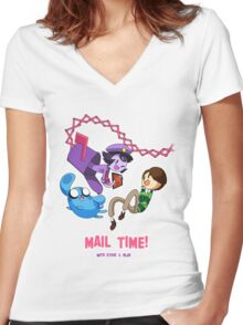 Mail Time Women's Fitted V-Neck T-Shirt