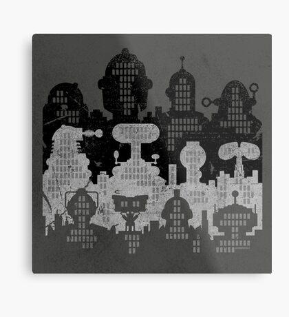 ROBOT CITY! Metal Print