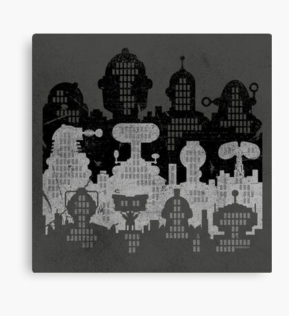ROBOT CITY! Canvas Print