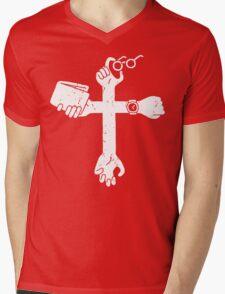 Sign of the Cross Mens V-Neck T-Shirt