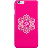Pink Lotus Flower Yoga Om iPhone Case/Skin