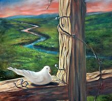 Dove on the Cross by Randy  Burns