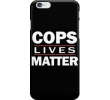 COPS LIVES MATTER. Chicago T-Shirt iPhone Case/Skin
