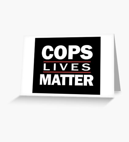 COPS LIVES MATTER. Chicago T-Shirt Greeting Card