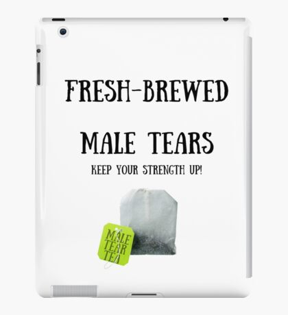 Male Tear Tea iPad Case/Skin