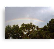 Neighborhood rainbow Canvas Print