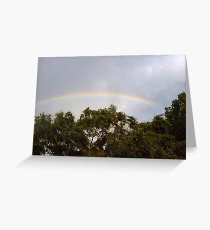 Neighborhood rainbow Greeting Card
