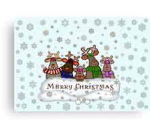 Will Work For Santa Reindeers Merry Christmas Cofee Mug Canvas Print