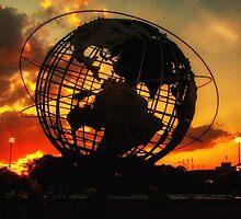 SUNSET IN CORONA PARK, NY by Diane Peresie