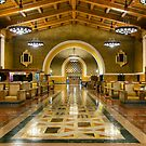 Los Angeles Union Station at Night by jswolfphoto