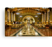 Los Angeles Union Station at Night Canvas Print