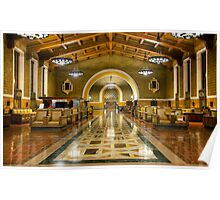Los Angeles Union Station at Night Poster