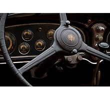 1932 Cadillac Dash Photographic Print