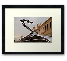 1932 Cadillac Hood Ornament Framed Print