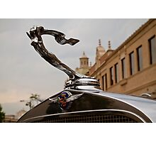1932 Cadillac Hood Ornament Photographic Print