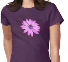 Single Pink African Daisy Against Green Foliage Isolated Womens Fitted T-Shirt
