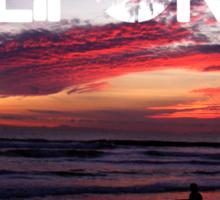 Huntington Beach, California - Surfer Sticker