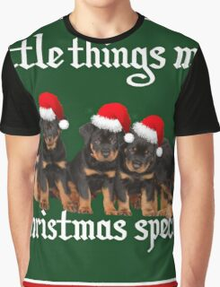 Little Things Make Christmas Special Rottweiler Greetings Graphic T-Shirt