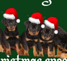 Little Things Make Christmas Special Rottweiler Greetings Sticker