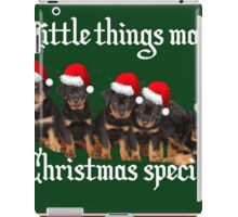 Little Things Make Christmas Special Rottweiler Greetings iPad Case/Skin
