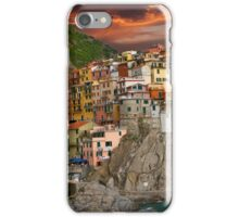 Fiery Cinque Terre iPhone Case/Skin