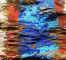 Textured wood - Vintage wallpaper by Atanas Bozhikov NASKO