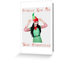 WWE Diva Paige - Scream For Me This Christmas. Wrestling. Greeting Card
