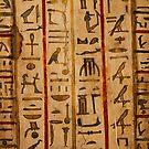 Egypt hieroglyphs by Bruno Beach