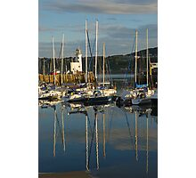 Harbour in evening light Photographic Print