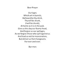 Barmen - Parody of the Lord's Prayer Photographic Print