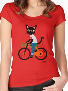 Summer cycling Women's Fitted Scoop T-Shirt