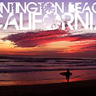 Huntington Beach, California - Surfer by crhodesdesign