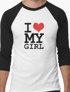 I love my girl Men's Baseball ¾ T-Shirt