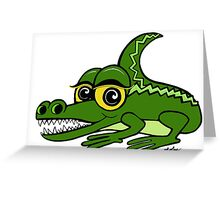 Toothy Alligator Greeting Card