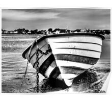Beached Dinghy Poster