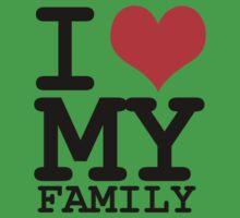 I love my family One Piece - Short Sleeve