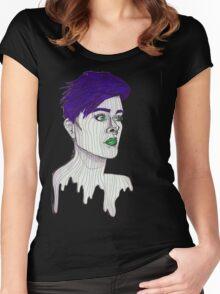 Distance Looker (Purple)  Women's Fitted Scoop T-Shirt