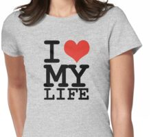 I love my family Womens Fitted T-Shirt