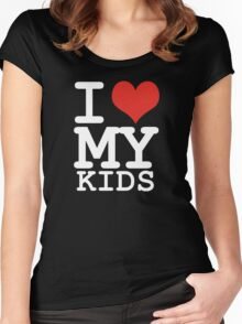 I love my kids Women's Fitted Scoop T-Shirt