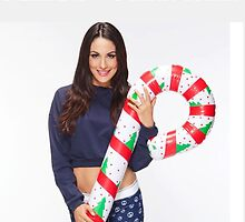 Brie Bella Christmas Candy Cane - WWE Diva, Wrestling by Lee5657