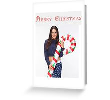 Brie Bella Christmas Candy Cane - WWE Diva, Wrestling Greeting Card