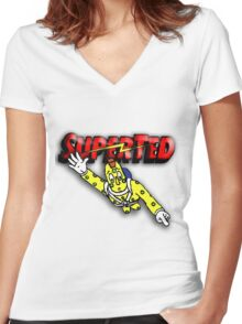 Super Ted Spotty Women's Fitted V-Neck T-Shirt